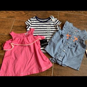 NWT baby girls shirts - old navy - size 12-18 m